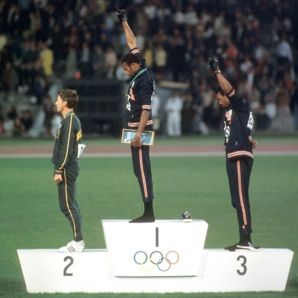 black power fist olympics
