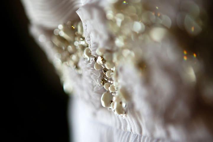 closeup of dress details