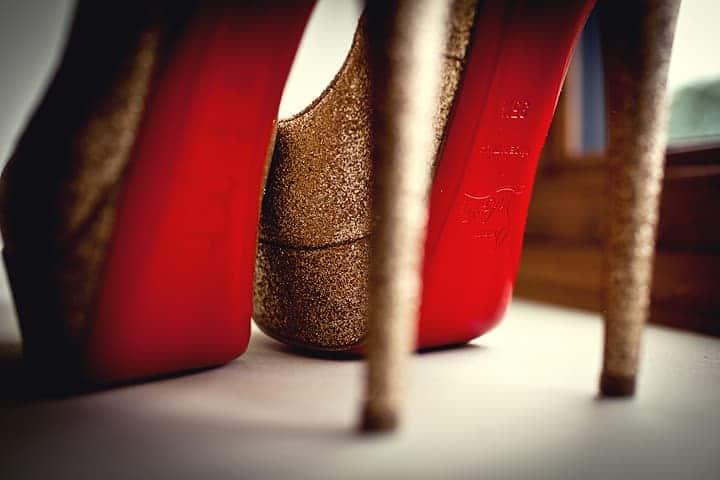 image of bride shoes