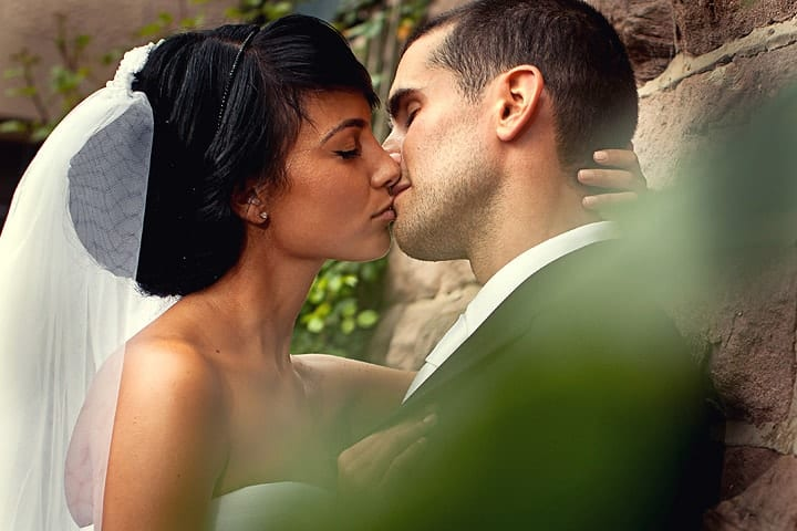 Image of wedding couple at Heaton House Farm in Macclesfield.