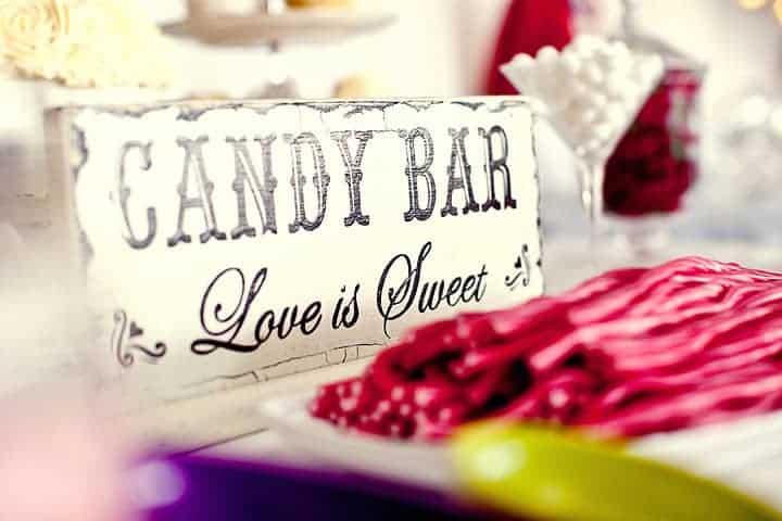 Sweets at wedding reception