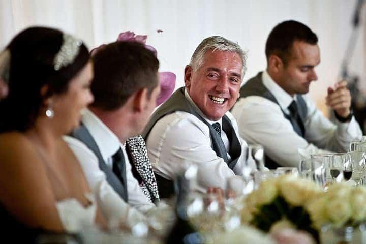 Happy grooms dad