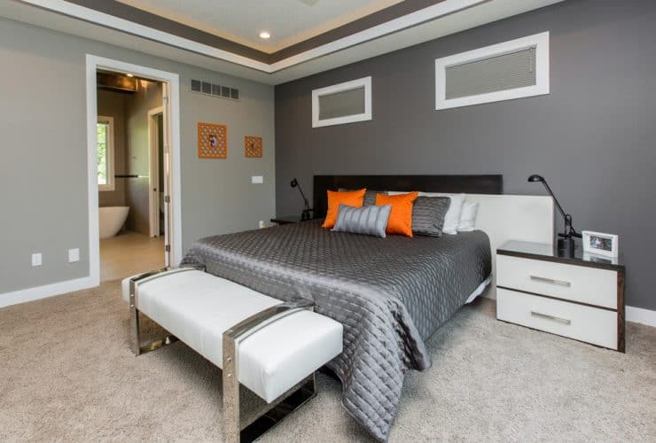 beige carpet color goes well with gray walls
