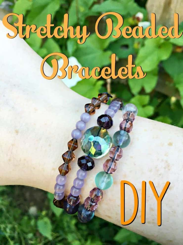 diy stretchy beaded bracelets