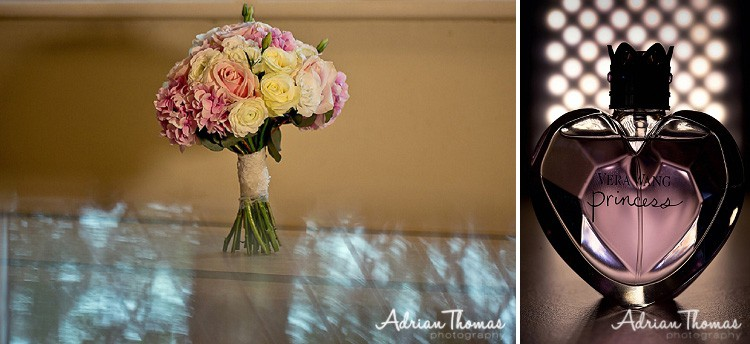 Bride bouquet and perfume