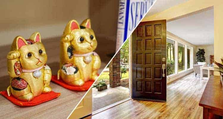 Japanese Feng Shui Items for Your Front Door