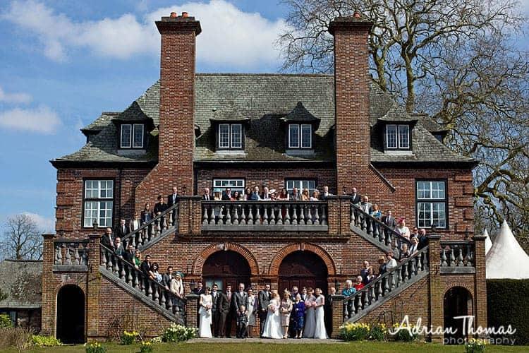 llansantffraed court hotel wedding guest group
