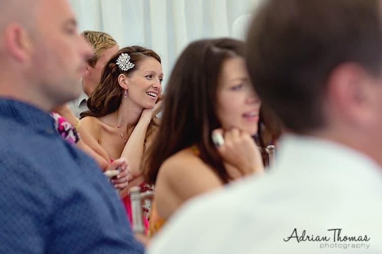bridesmaid listen to speech