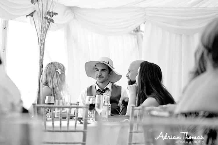 Llanerch owner wearing guest hat