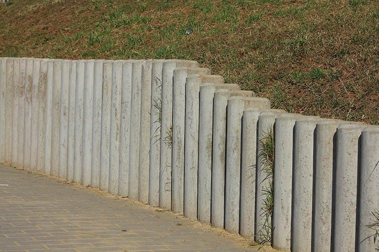 Concrete Cylinders retaining wall