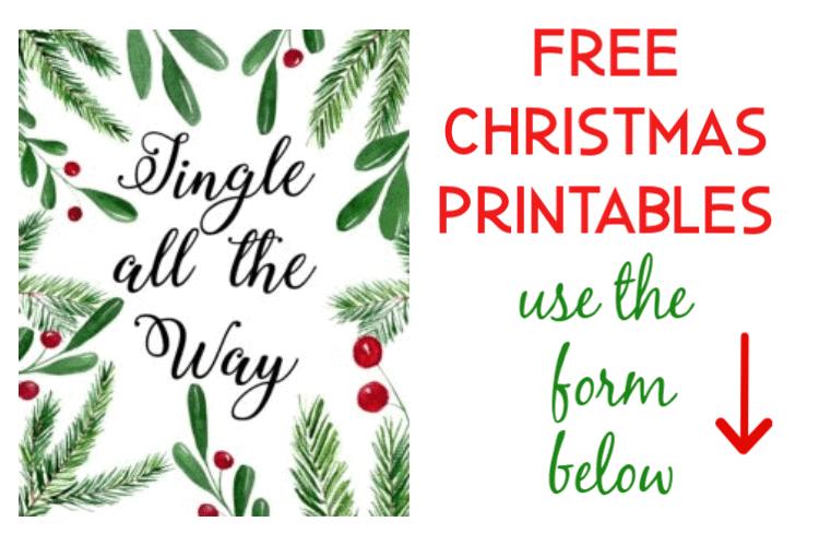 free christmas printable