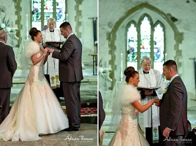 Exchange of rings at Eglwysilan Church