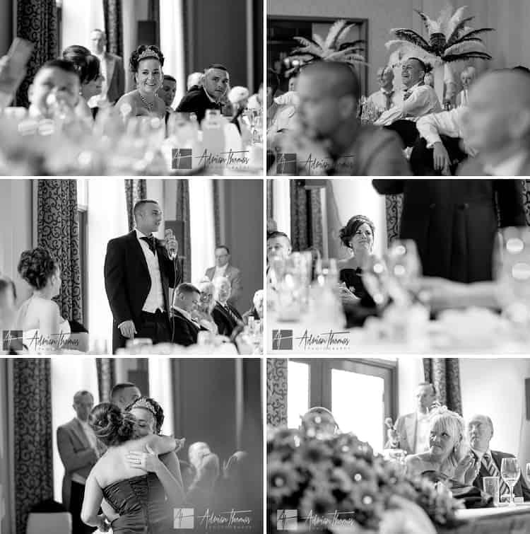 Speeches at wedding in Vale Resort.