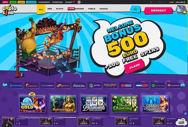 Explosino Casino Review Page