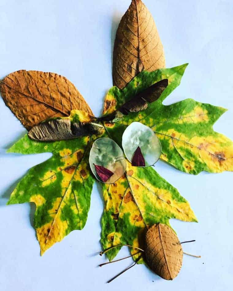animal leaf craft