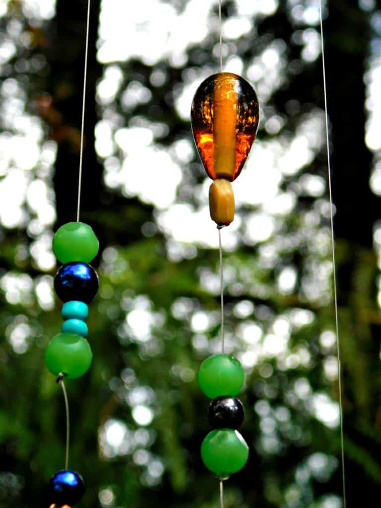 beads hanging from wind chime