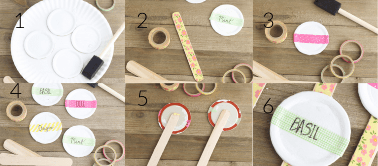 steps to make an herb garden sign collage