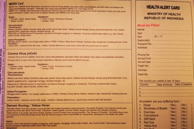 Health Card - Updates about Sorong