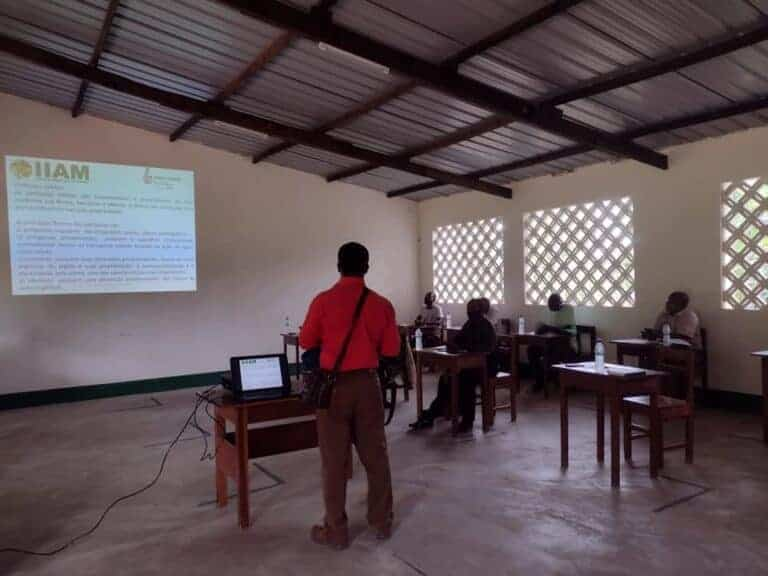 Training begins at the institute to learn how to use the soil test kit