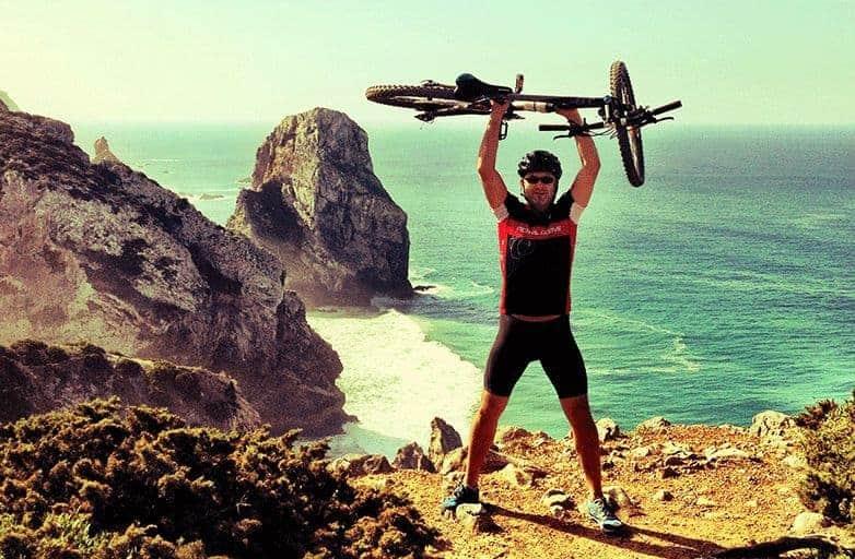 happy mountain biking and yoga