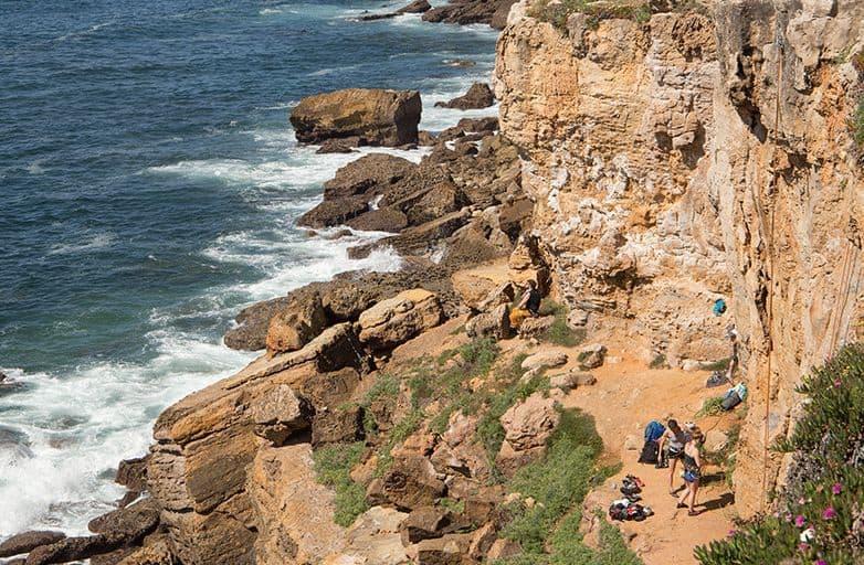 portugal climbing spot coastline