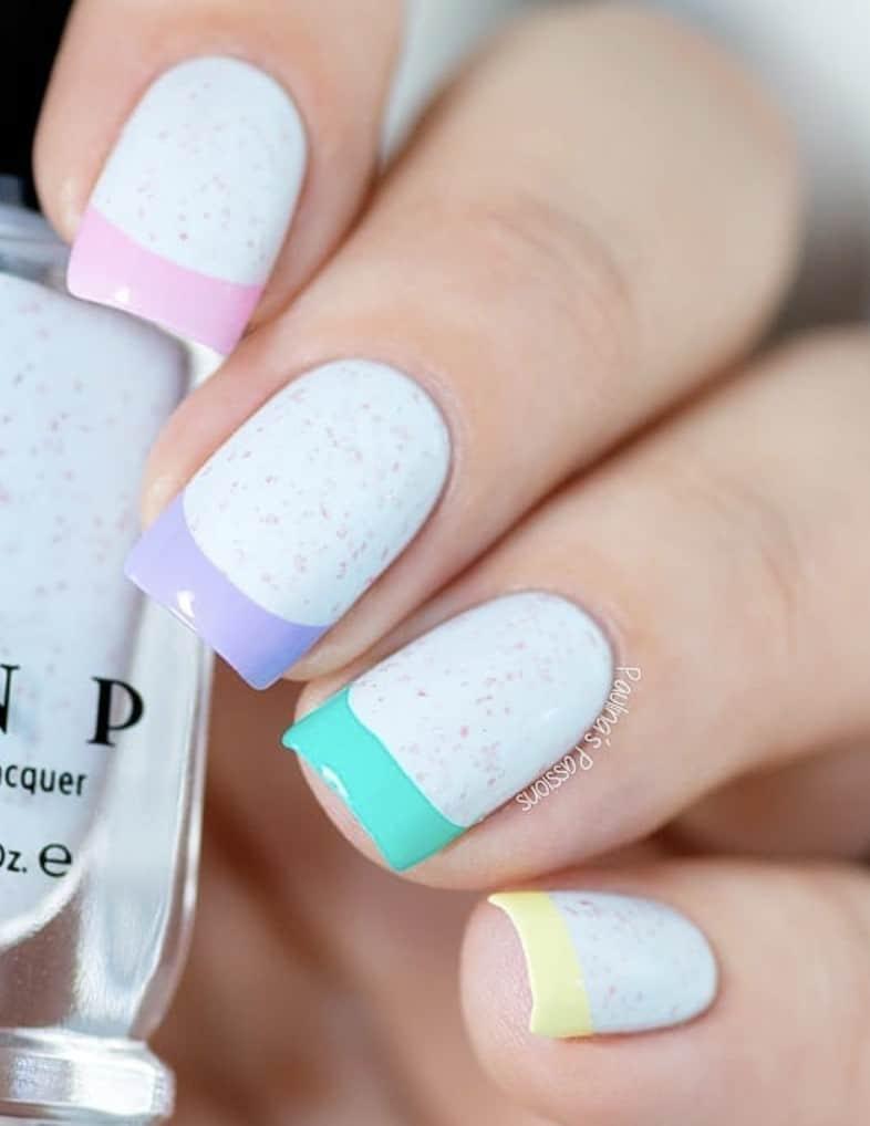 Summer Rainbow Nails