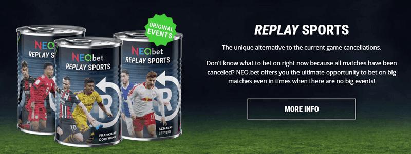 NEO.bet Replay Sports Betting