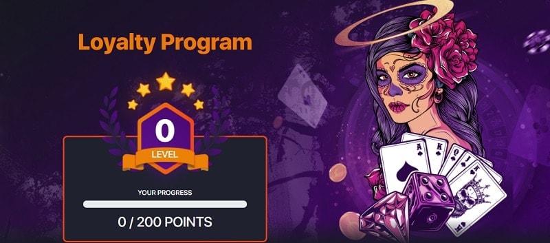 Praise Casino loyalty program
