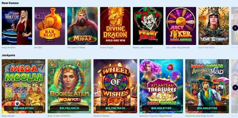 CasinoFriday jackpots, slots, table games, live dealer