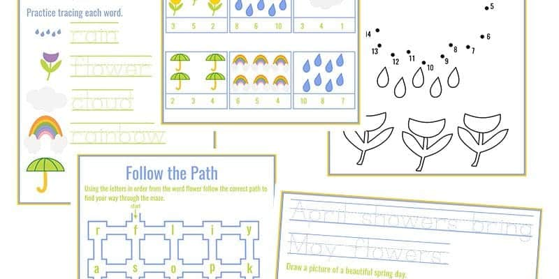 Spring Printable Pack for FREE.