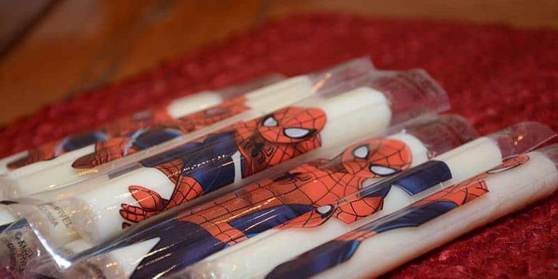 Marvel® string cheese on a table