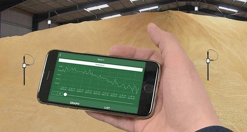 minitemp blue wireless crop sensors and ml sensing app