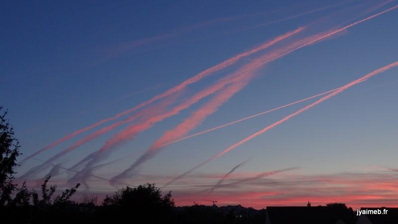 le ciel au dessus de Montmorency le 28 sept 2014 à 7 h 28