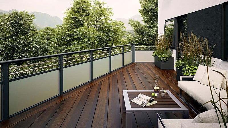 Balkone aus Glas