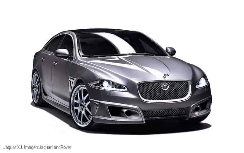 El Jaguar XJ es un auto fabricado casi completamente en aluminio