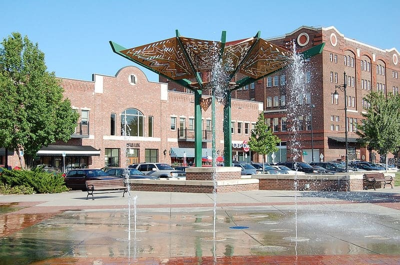 Old Town Square Fountains