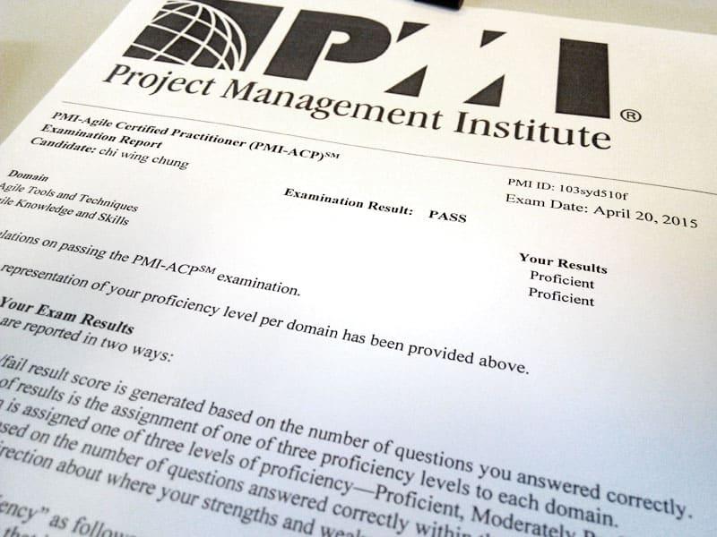 PMI-ACP exam report