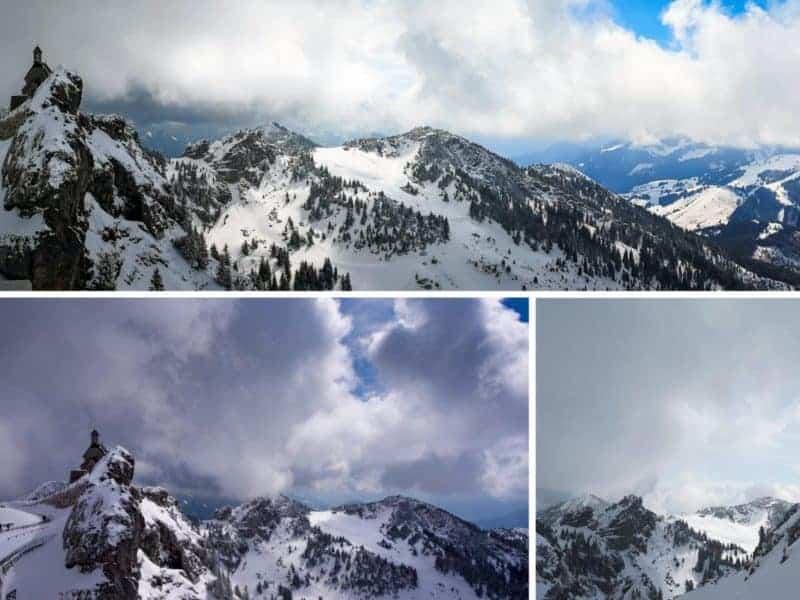 Wendelstein im Frühling mit Schnee