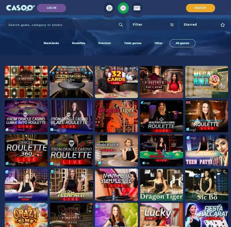 Casoo Casino Online and Mobile
