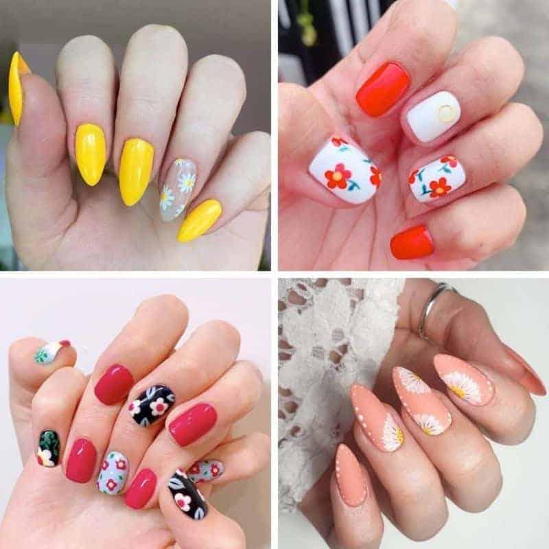 Summer Flower Nail Design