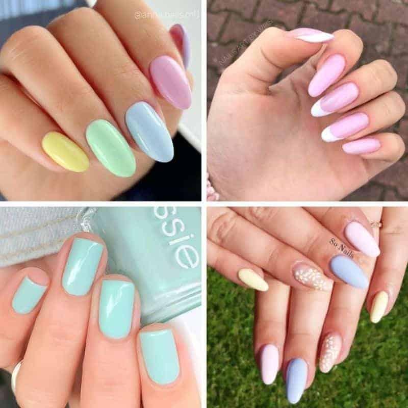 summer nail designs, Summer Pastel Nails