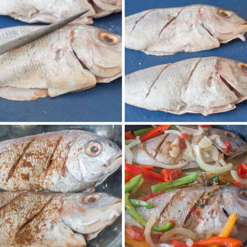 Jamaican steamed fish steps