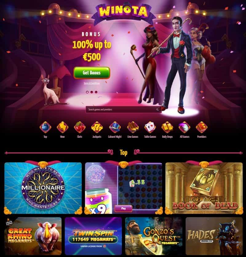 Winota Casino Review - snapshot