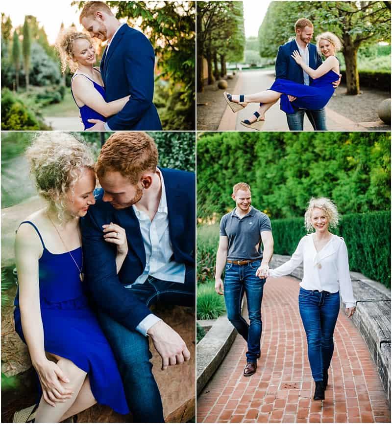 botanic garden session for engaged couples