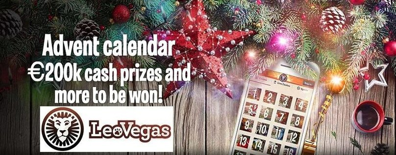 LeoVegas Christmas Bonus Calendar - win free spins, money, prizes