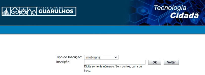 Consulta IPTU- Guarulhos SP