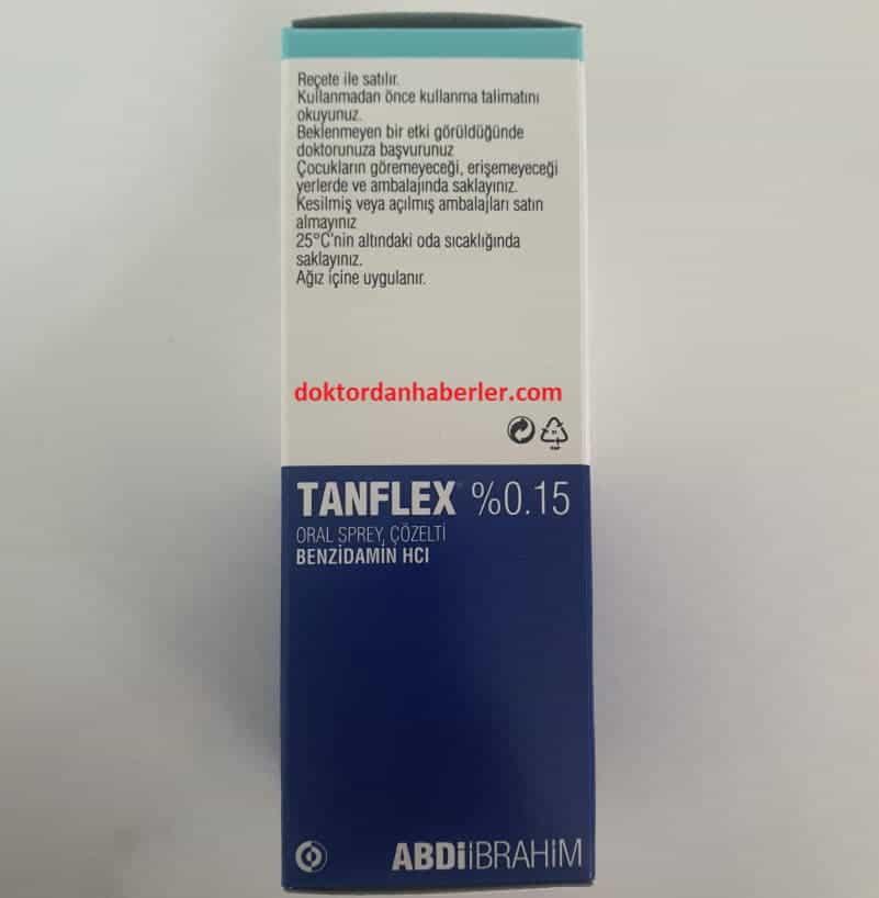 tanflex sprey yutulursa ne olur