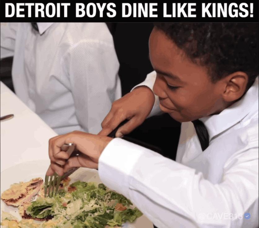 DETRIOT BOYS DINE LIKE KINGS!