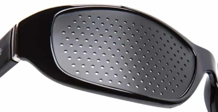 Occhiali stenopeici Fasciante black Dual Dream Dispositivo medico occhiali bates - schermo forato