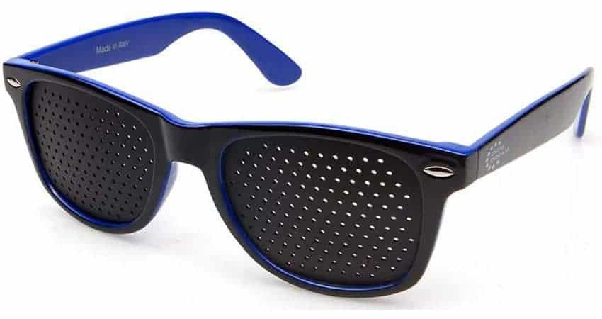 Dual Dream ® Occhiali stenopeici Classic blue   Dispositivo medico per ginnastica oculare